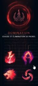 Runes de l'arbre Domination LoL